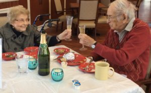Couple celebrates 69th anniversary at Azura Memory Care.
