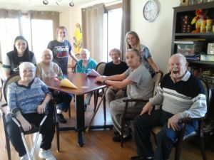 The National Honor Society visits and is EXCEPTIONAL in helping bring joy to our Azura residents.
