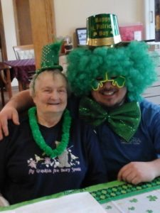 Azura Memory Care celebrates St. Patrick's Day.