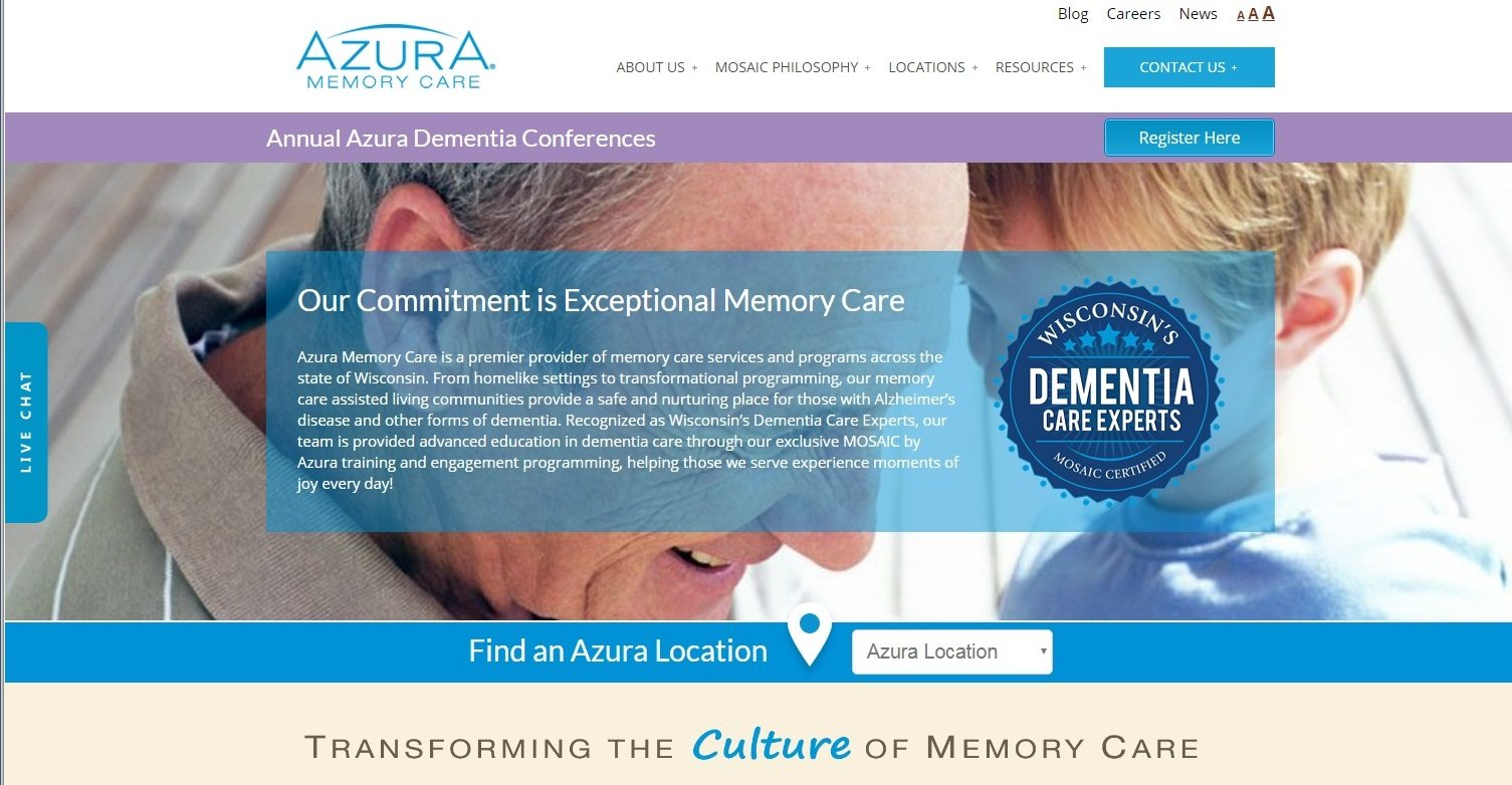 Azura Memory Care Launches New Homepage Redesign